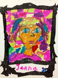 Art Card of Jenna, drawn by featured artist, Tina